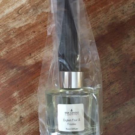 Box Candle Company English Pear and Freesia Reed Room Diffuser