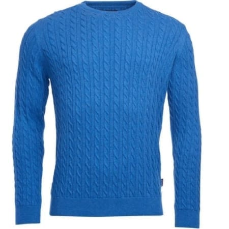 Barbour Fowey Cable Crew Jumper
