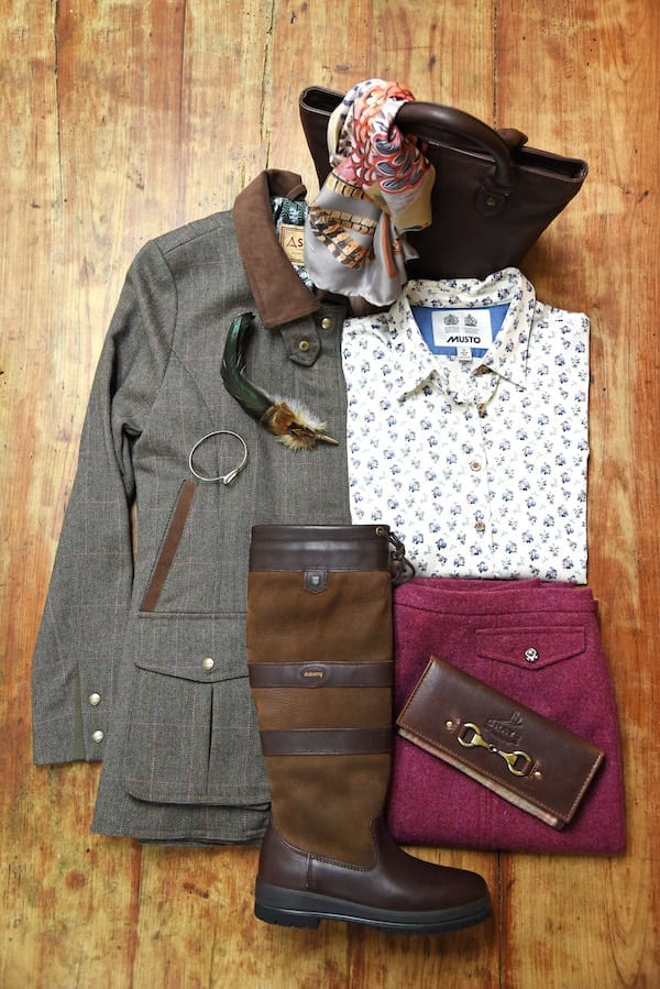 Cheltenham Festival - What to wear to Cheltenham Festival - Wadswick Country Store - Dubarry, Schoffel, Musto, Bhoid, Covey Scarf, Barbour tote bag, Hicks and Brown