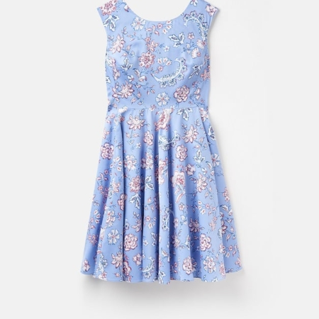 Joules Amelie Woven Dress, Blue Indienne Floral