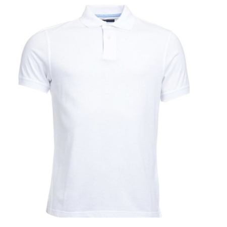 Barbour Polka Trimmed Polo Shirt, White