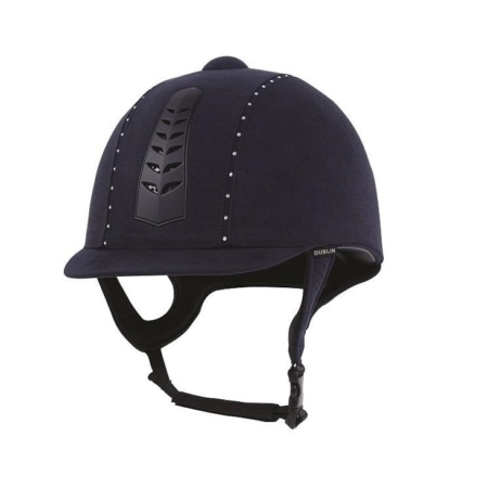 Dublin Silver Pro Diamante Riding Hat