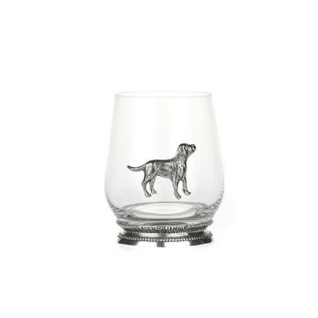 Orchid Designs Pewter Gin/Whisky Labrador Glass
