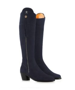 Fairfax & Favor Heeled Sporting Fit Regina Boot Navy