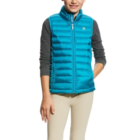 Ariat Ideal Down Girls Vest, Atomic Blue
