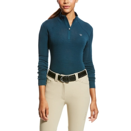 Ariat Cadence Wool 1/4 Zip, Teal Extreme