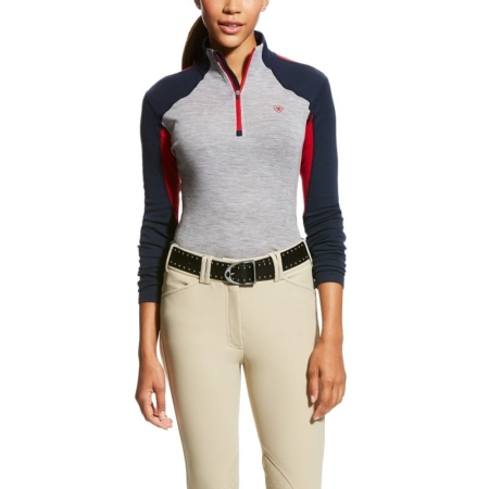 Ariat Cadence Wool 1/4 Zip, Team