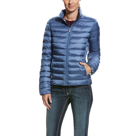 Ariat Ideal Down Jacket Ladies, Grisblue