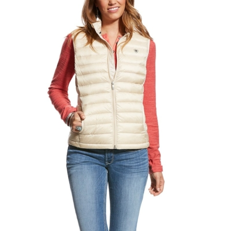 Ariat Ideal Down Ladies Vest, Raw Canvas
