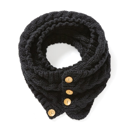 Ariat Snug Cable Scarf, Black