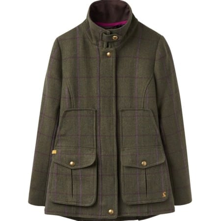 Joules Fieldcoat Tweed Jacket in Green Check