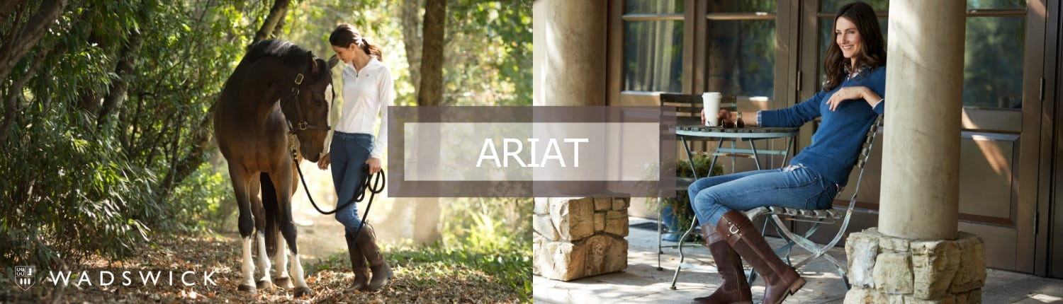 Ariat page banner showing lifestyle shots