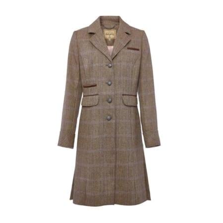 Dubarry Blackthorn ladies tweed coat in Woodrose