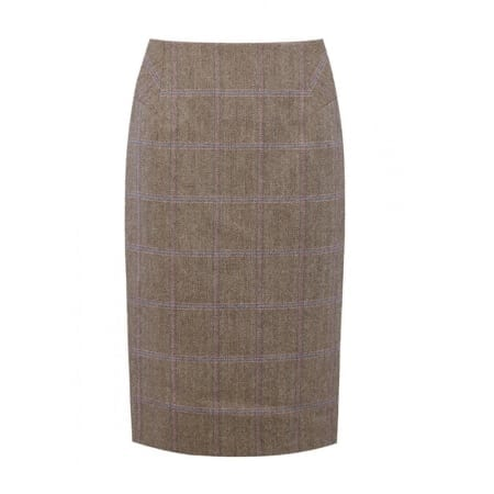 Dubarry Fern Tweed Knee Length Skirt, Woodrose