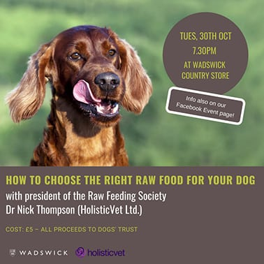 How to Choose the Right Raw Food for Your Dog - Talk at Wadswick Country Store - HolisticVet