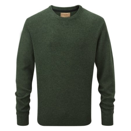 Schoffel Lambswool Crew Neck Jumper, Forest