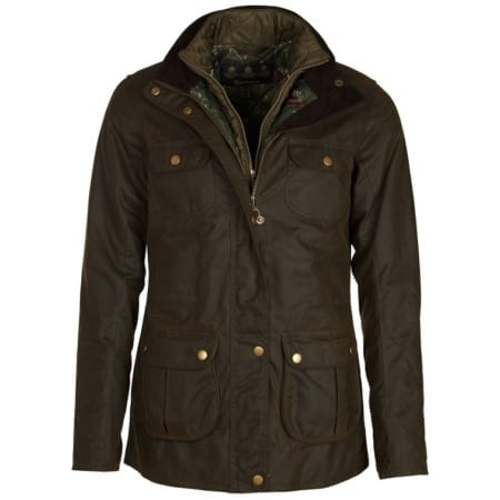 Barbour Chaffinch Waxed Cotton Jacket, Olive