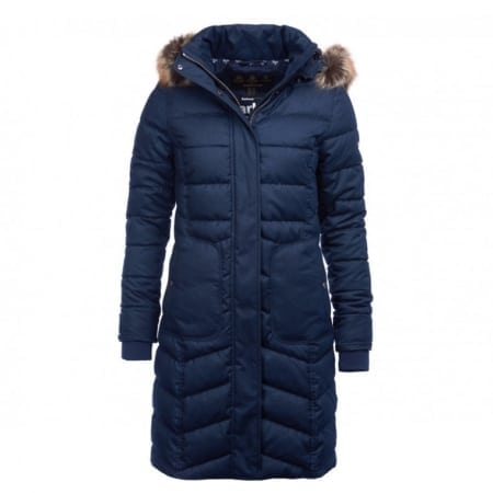 Barbour Foreland Quilted Jacket in Navy