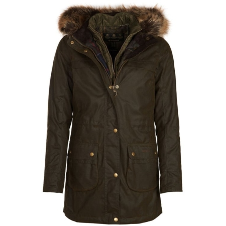 Barbour Dartford Waxed Jacket in Olive