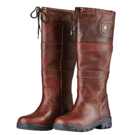 Dublin River Grain Waterproof Country Boot, Red Brown