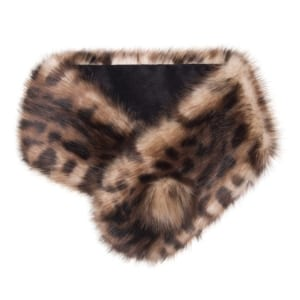 Helen Moore Faux Fur Button Collar