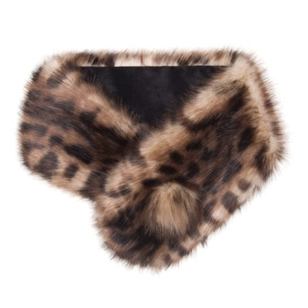 Helen Moore Faux Fur Button Collar