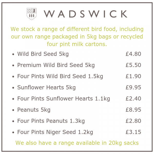 How to attract wild birds to your card - RSPB Bird Watch - Wadswick Country Store