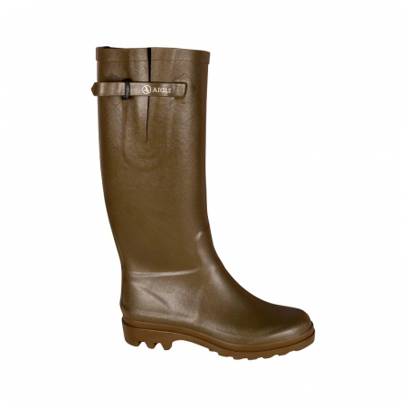 Aigle Aiglentine Wellington Boot in Khaki