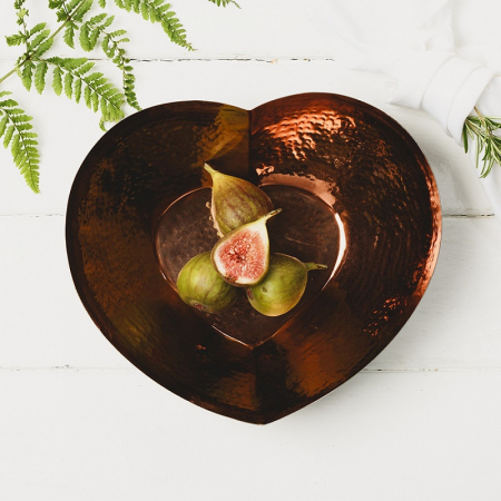 Just Slate Company Large Heart Copper Bowl