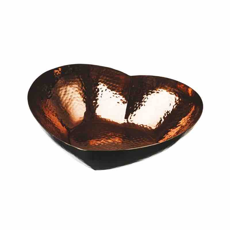 Just Slate Company Large Copper Heart Bowl