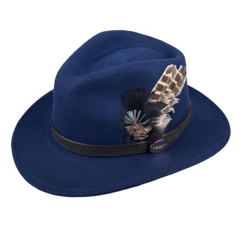 59d8acbafe2 Hicks   Brown Suffolk Fedora Ladies Hat