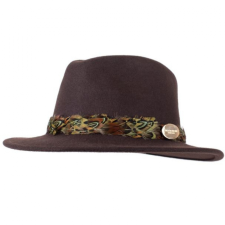 Hicks & Brown Suffolk Fedora Brown Pheasant Wrap 1 Image