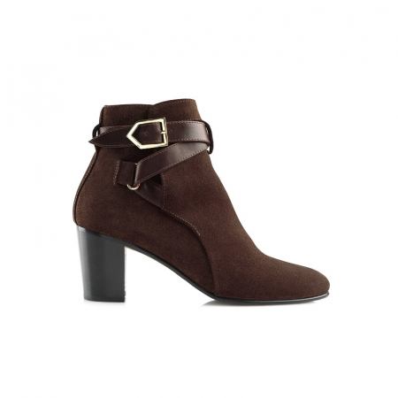 Fairfax & Favor Chocolate Kensington Ankle Boot Main View Image