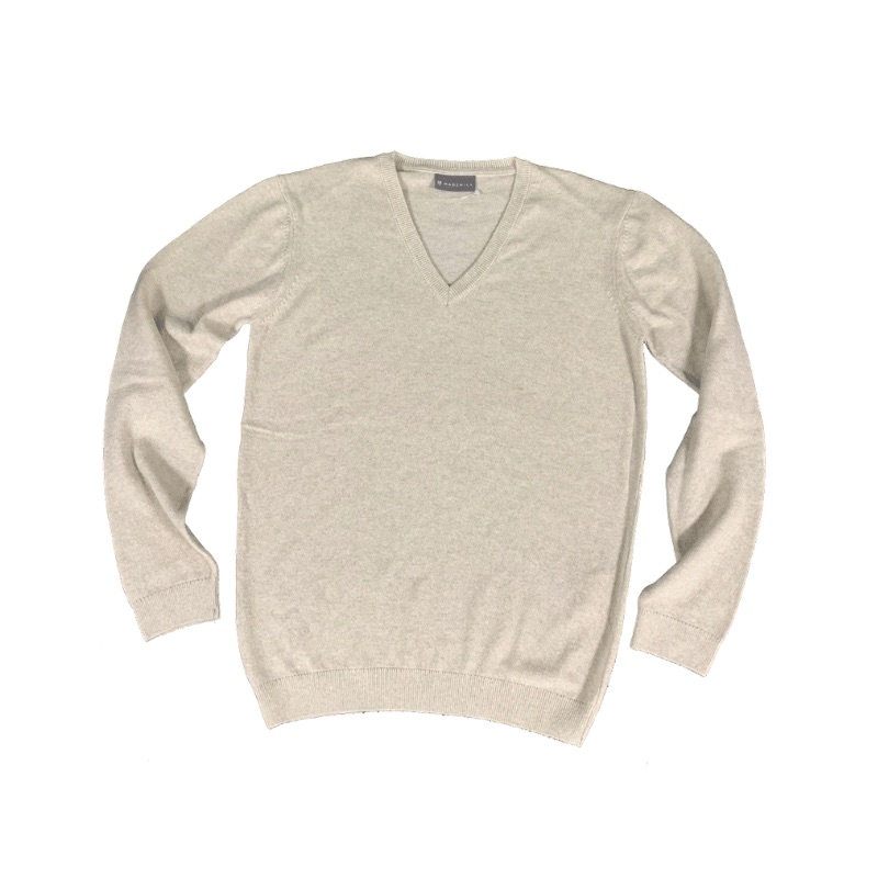 Wadswick V Neck Ladies Sweater, Beige
