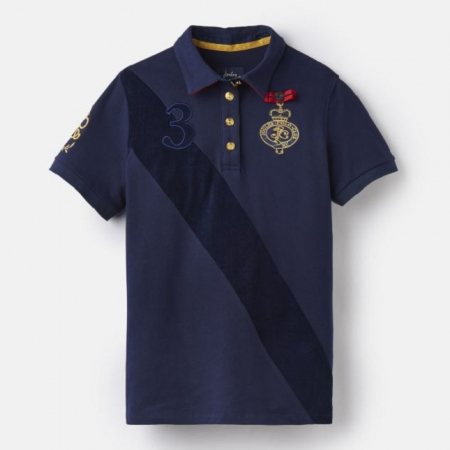 Joules Claredon Polo Shirt, French Navy
