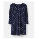 Joules Edith A-Line Tunic, Navy Spot