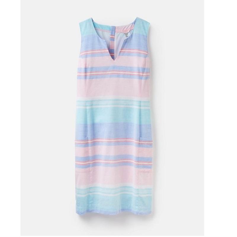 Joules Elayna Shift Dress, Multi Stripe