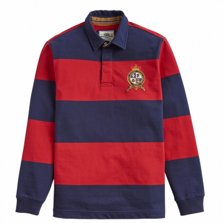 Joules Harlington Polo, Red Navy Stripe