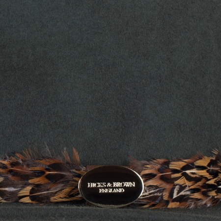 Hicks & Brown Suffolk Fedora Olive Pheasant Feather Wrap 3 Image