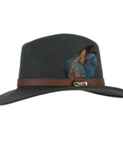 Hicks & Brown Suffolk Fedora Olive Classic Image
