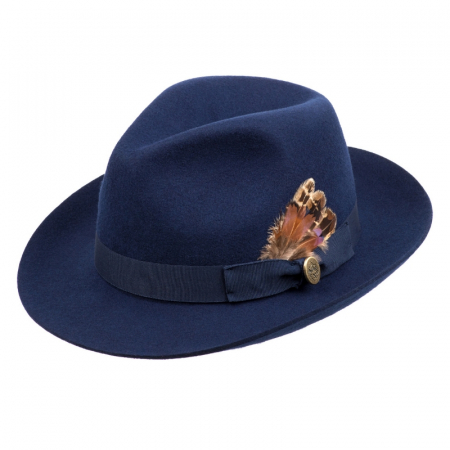 Hicks & Brown Melford Trilby Navy 4