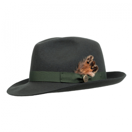 Hicks & Brown Melford Trilby Olive 1 Image