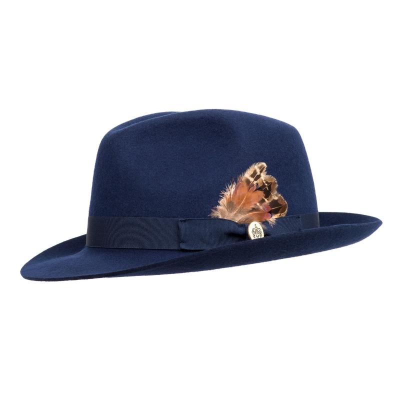 b89d2bbabf7fe Hicks & Brown Melford Trilby Ladies Hat, Navy   Wadswick