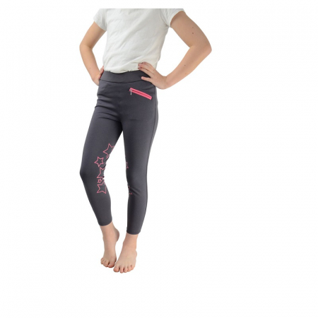 HY Performance Stella Riding Tights, Iron Pink Stars