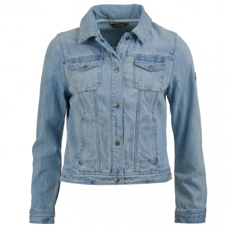 Barbour Ripple Denim Jacket, Bleached