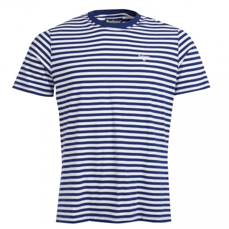 Barbour Delamere Stripe T-Shirt, Inky Blue