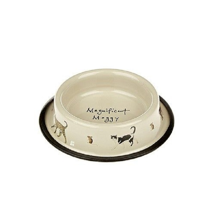 Orchid Tinware Cat Bowl – Magnificent Moggy