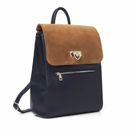 Fairfax & Favor Loxley Backpack in Tan-Navy