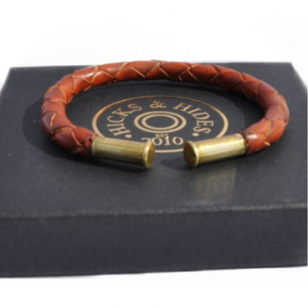 Hicks & Hides Leather Rifle Bangle Tan