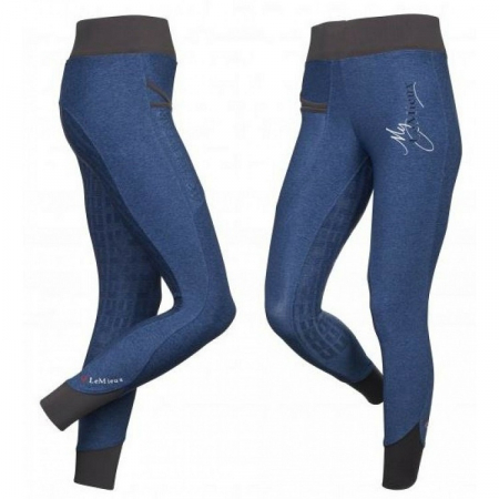 LeMieux ActiveWear Pull On Breeches in Navy